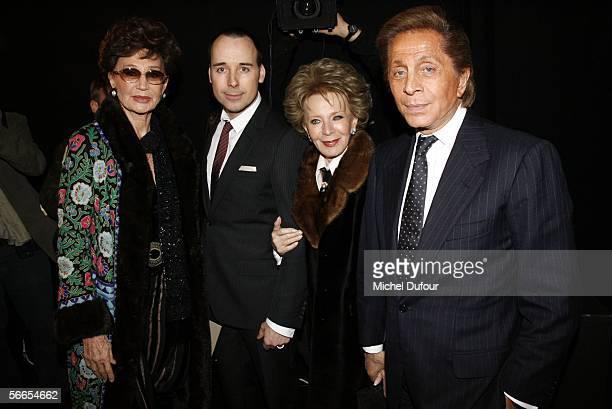 Jacqueline de Ribes David Furnish Lili Safra and Valentino appear backstage at the Valentino fashion show as part of Paris Fashion Week Paris Fashion...