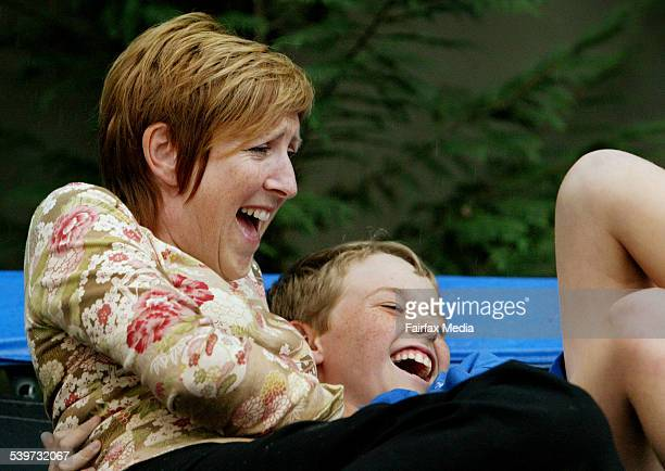 Jacqueline Ellis with her 10 year old son, Dominic, 16 November 2005. SHD Picture by FIONA-LEE QUIMBY