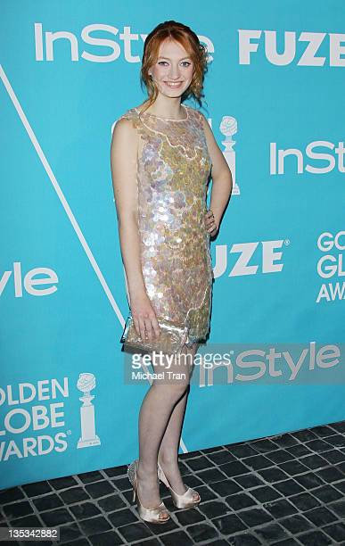 Jacqueline Emerson arrives at The Hollywood Foreign Press Association and InStyle hosts A Night of Firsts held at Cecconi's Restaurant on December 8...