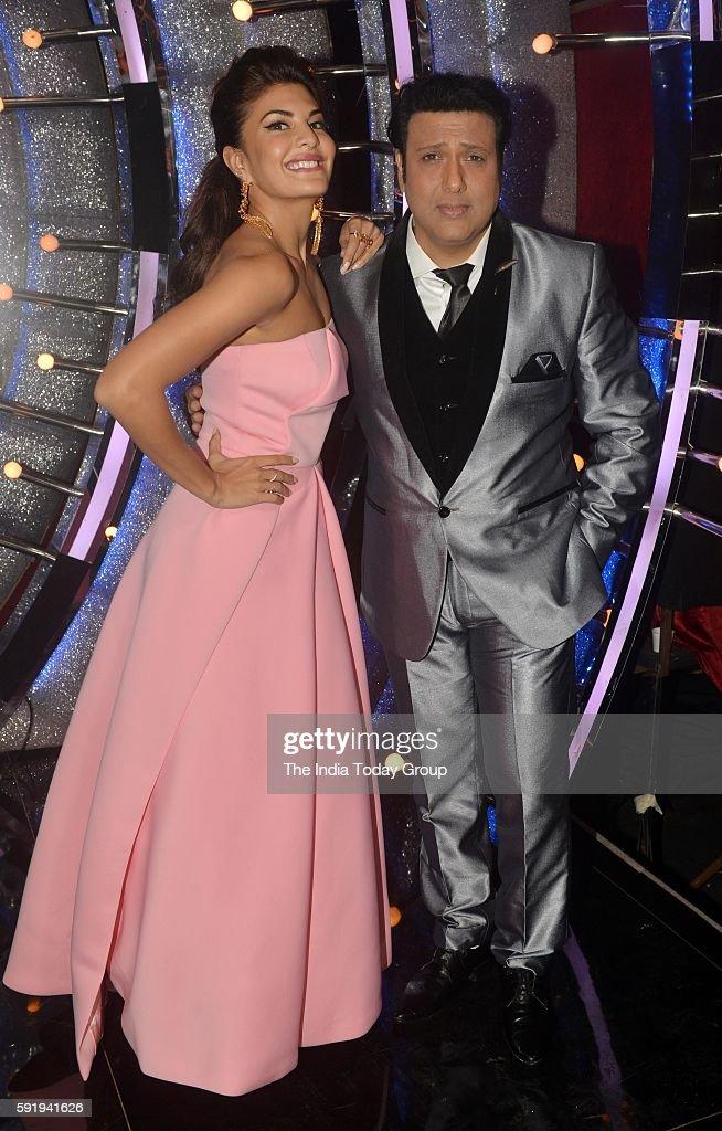 Jacqueline Fernandez and Govinda on the sets of reality dance show Jhalak Dikhhla Jaa season 9 in Mumbai