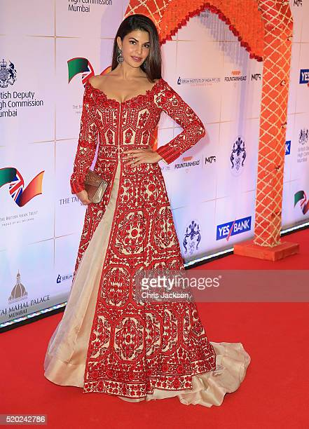 Jacqueline Fernandez arrives for a Bollywood Inspired Charity Gala at the Taj Mahal Palace Hotel during the royal visit to India and Bhutan on April...