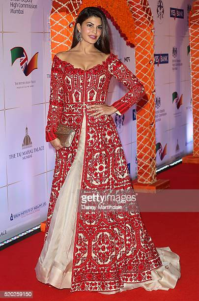 Jacqueline Fernandez attend the Bollywood Charity Gala at the Taj Palace Hotel on April 10 2016 in Mumbai India