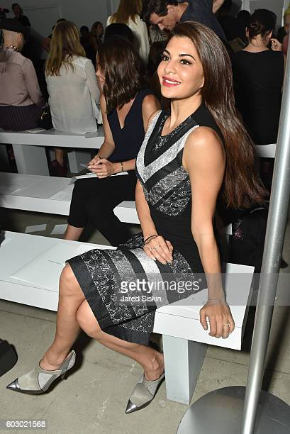 Jacqueline Fernandez attends Prabal Gurung Front Row September 2016 New York Fashion Week The Shows at The Gallery Skylight at Clarkson Sq on...