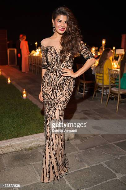 Jacqueline Fernandez attends the Art Biennale Party hosted by Mr Emir Uyar on May 30 2015 at the St Regis Venice San Clemente Palace in Venice Italy