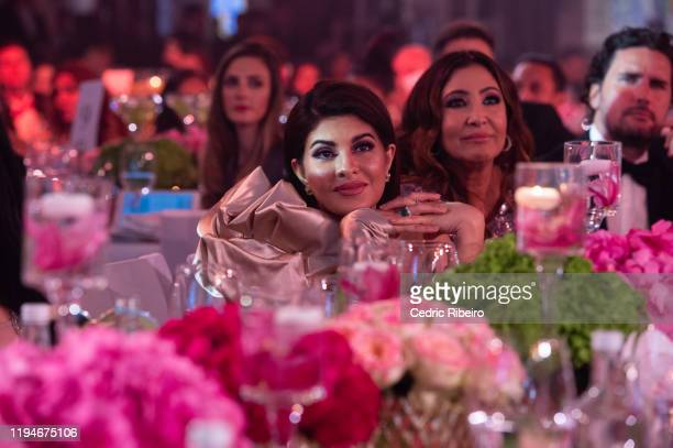 """Jacqueline Fernandez attends the """"The Global Gift Gala Dubai"""" presented by Huda Beauty at The Waldorf Astoria Dubai Palm Jumeirah on December 17,..."""