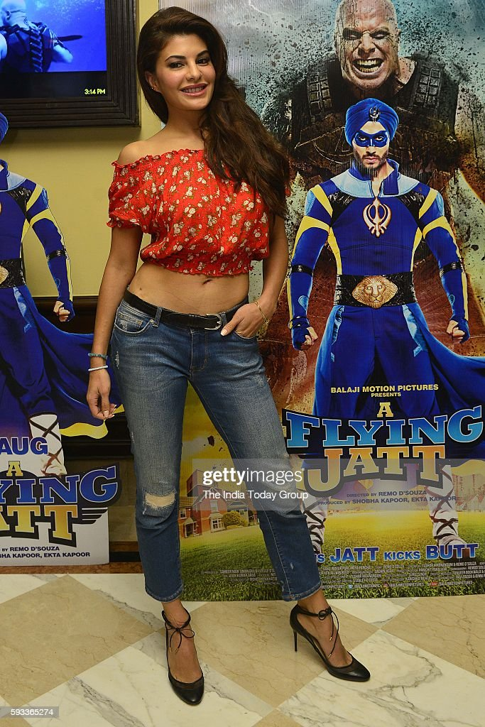 Jacqueline Fernandez during a press conference to promote her upcoming film A Flying Jatt in New Delhi