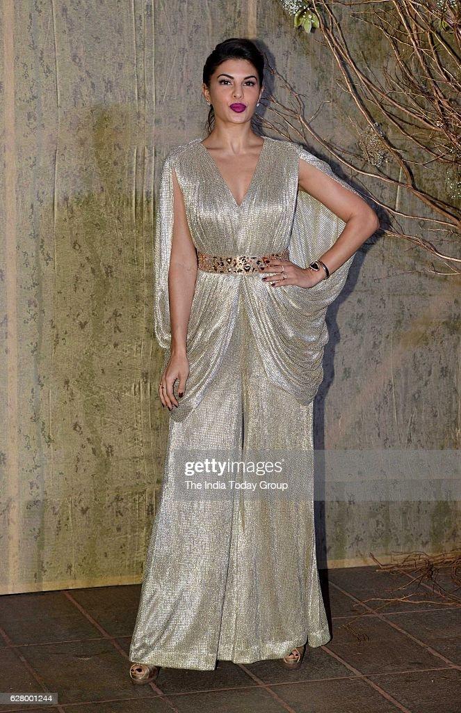 Jacqueline Fernandez during the birthday celebrations of fashion designer Manish Malhotra in Mumbai
