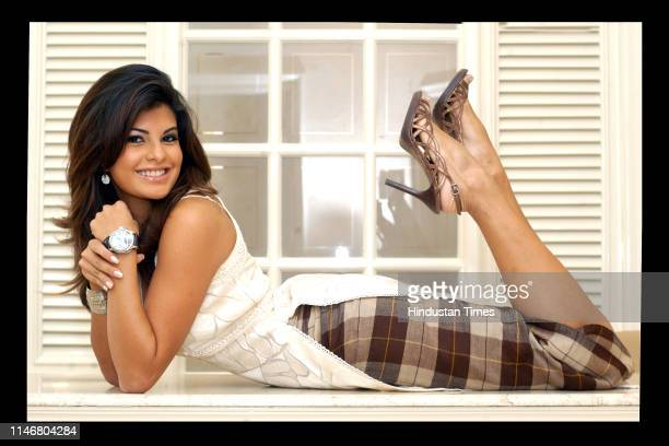 Jacqueline Fernandez Miss Sri Lanka Univese 2006poses during a photo shoot on March 15 2007 in New Delhi India