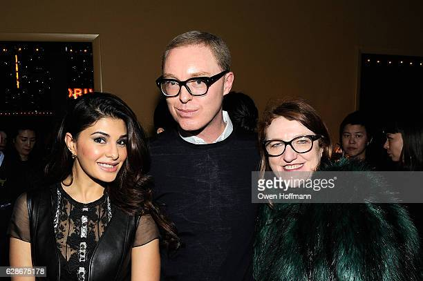 Jacqueline Fernandez Stuart Vevers and Glenda Bailey attend the Coach 75th Anniversary Party on December 8 2016 in New York City