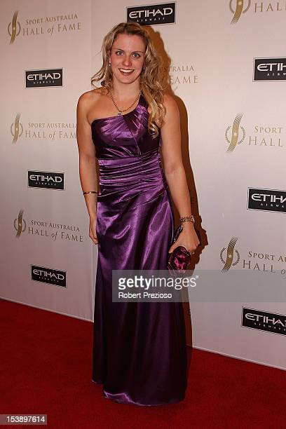 Jacqueline Freney arrives for the Sport Australia Hall of Fame Annual Induction ceremony at Crown Palladium on October 11 2012 in Melbourne Australia