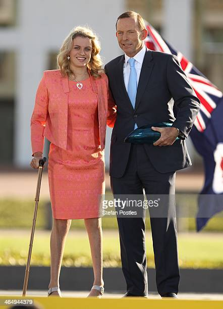 Jacqueline Freney is announced as the 2014 Young Australian of the Year at Parliament House on January 25 2014 in Canberra Australia The annual award...