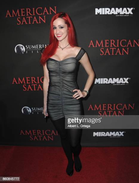 Jacqueline Glenn arrives for the Premiere Of Miramax's American Satan held at AMC Universal City Walk on October 12 2017 in Universal City California