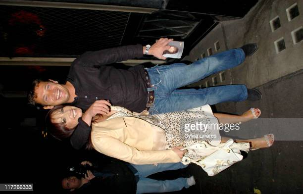 Jacqueline Gold and Sid Owen during Jacqueline Gold's A Woman's Courage Book Launch Party at The Ivy in London Great Britain
