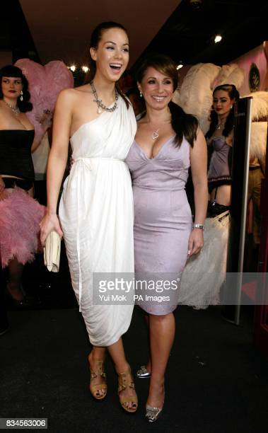 Jacqueline Gold the CEO of Ann Summers with Hollyoaks actress Roxanne McKee at a party to celebrate the relaunch of the Ann Summers Oxford Street...