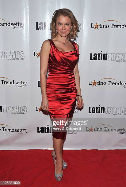 Jacqueline Gonzalez attends the 9th Annual Latino Trendsetter Awards and Scholarship Gala at The New York Marriott Marquis on November 30 2010 in New...