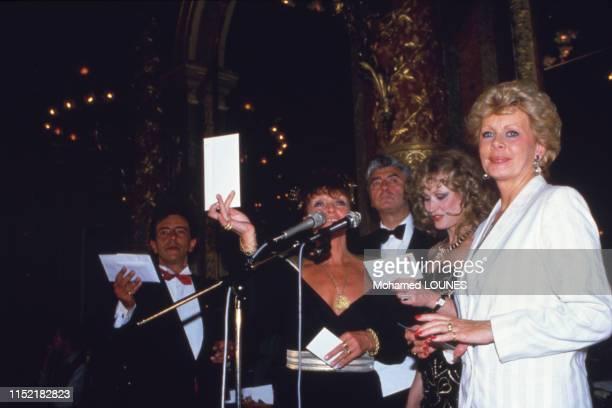 Jacqueline Huet lors de la soirée 'Les Amours de Casanova' le 24 avril 1985 à Paris France