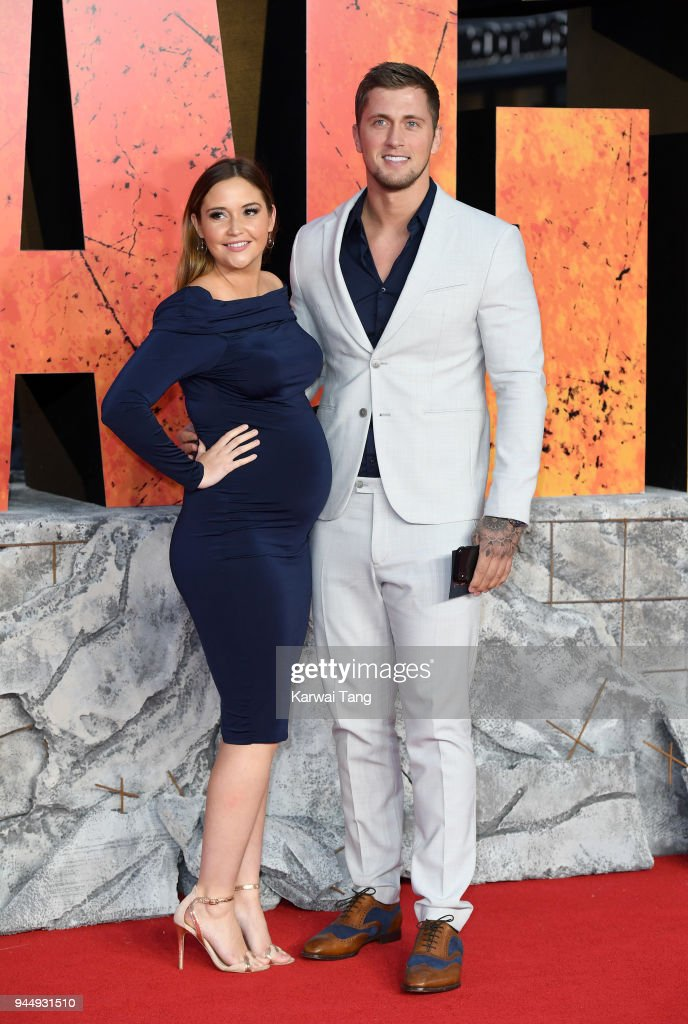 Jacqueline Jossa and Dan Osborne attend the European Premiere of 'Rampage' at Cineworld Leicester Square on April 11, 2018 in London, England.