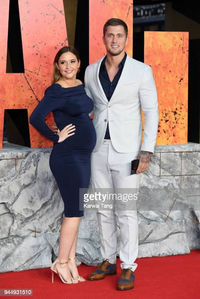 Jacqueline Jossa and Dan Osborne attend the European Premiere of 'Rampage' at Cineworld Leicester Square on April 11 2018 in London England