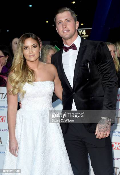 Jacqueline Jossa and Dan Osborne attend the National Television Awards held at the O2 Arena on January 22 2019 in London England