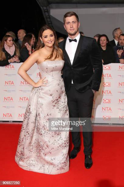 Jacqueline Jossa and Daniel Osborne attend the National Television Awards 2018 at The O2 Arena on January 23 2018 in London England