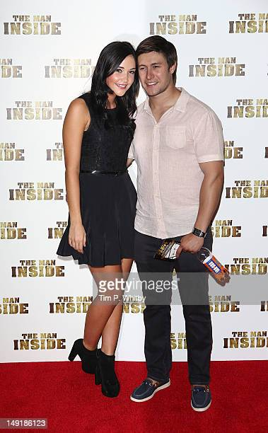 Jacqueline Jossa and Tony Discipline attend the premiere of 'The Man Inside' at Vue Leicester Square on July 24 2012 in London England