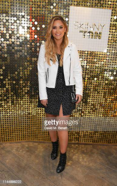 Jacqueline Jossa attends Skinny Tan VIP product launch party at 100 Wardour Street on April 24 2019 in London United Kingdom