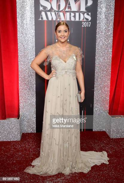 Jacqueline Jossa attends The British Soap Awards at The Lowry Theatre on June 3 2017 in Manchester England The Soap Awards will be aired on June 6 on...