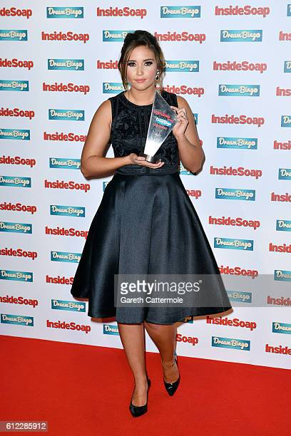 Jacqueline Jossa attends the Inside Soap Awards at The Hippodrome on October 3 2016 in London England
