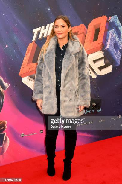 Jacqueline Jossa attends the multimedia screening of The Lego Movie 2 The Second Part at Cineworld Leicester Square on February 02 2019 in London...