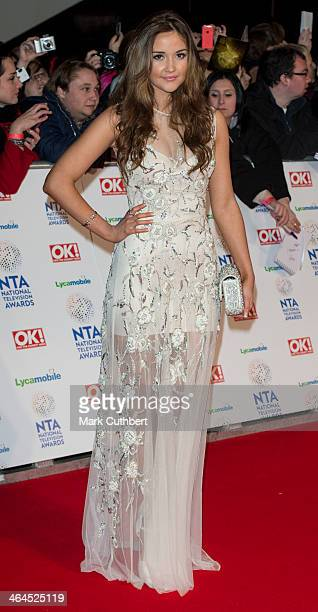 Jacqueline Jossa attends the National Television Awards at 02 Arena on January 22 2014 in London England