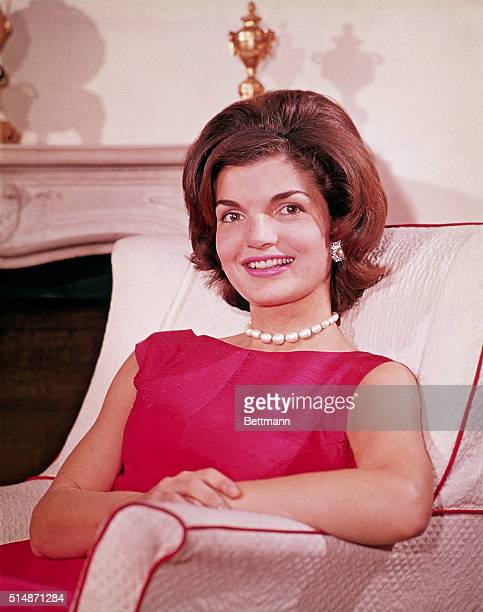Jacqueline Kennedy at her Georgetown home in August 1960
