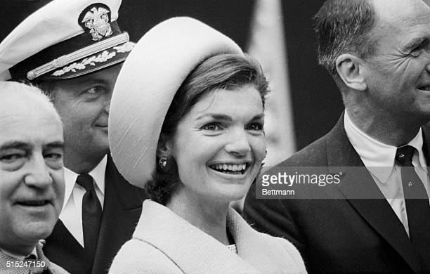 Jacqueline Kennedy at the launching of the USS Lafayette submarine.