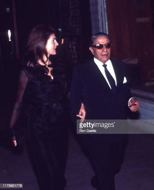Jacqueline Kennedy Onassis and Aristotle Onassis sighted at La Cote Basque in New York City on September 28 1970