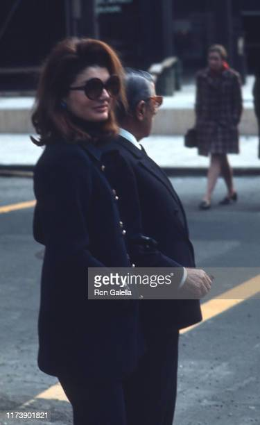 Jacqueline Kennedy Onassis and Aristotle Onassis sighted at PJ Clarke's in New York City on January 17 1971