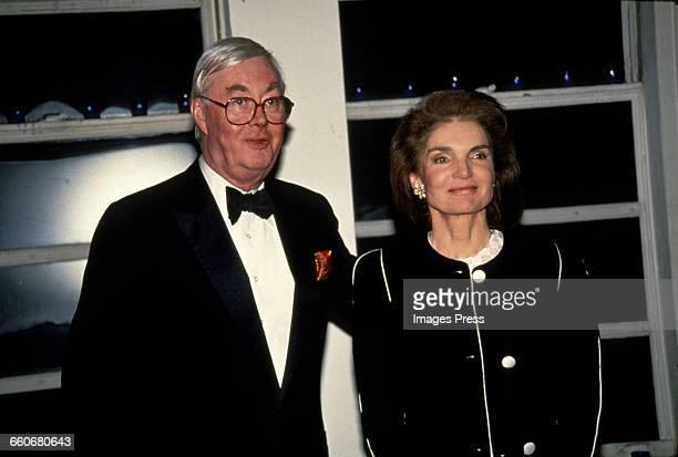 Jacqueline Kennedy Onassis and Senator Daniel Patrick Moynihan circa 1992 in New York City