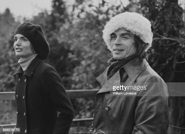 Jacqueline Kennedy Onassis and Soviet ballet dancer Rudolf Nureyev guests at a dinner party in Turville UK 16th November 1968