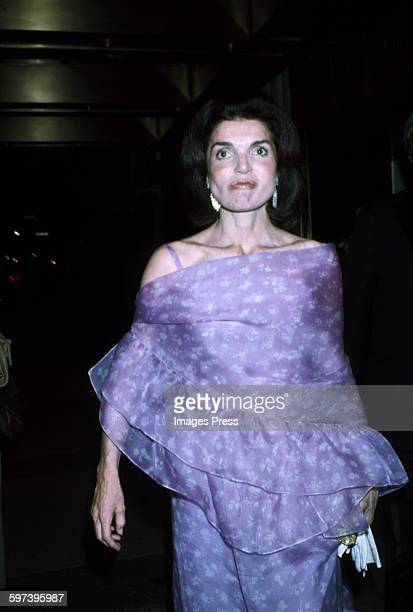 Jacqueline Kennedy Onassis in New York City circa 1977