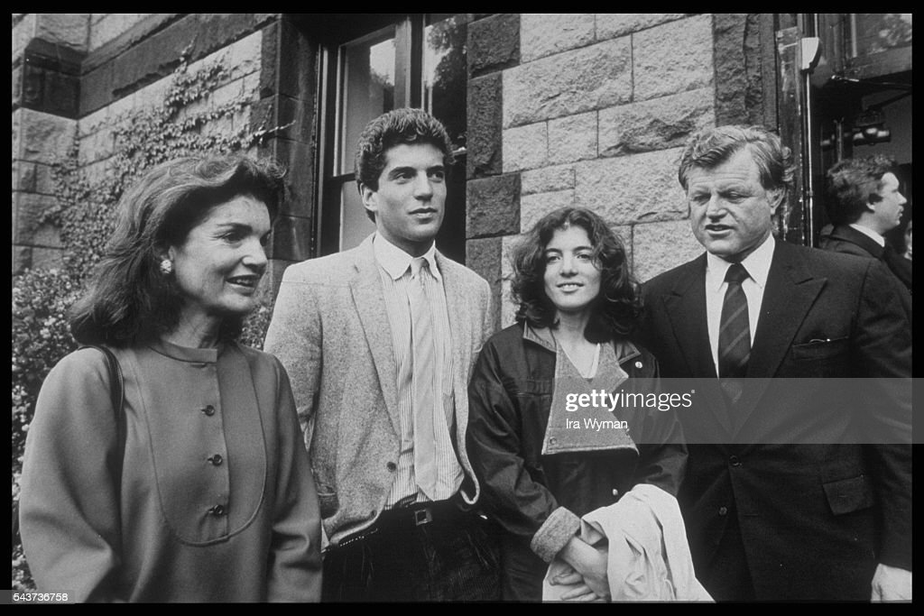 The kennedy family pictures getty images jacqueline kennedy onassis born bouvier her children john fitzgerald kennedy jr altavistaventures Gallery