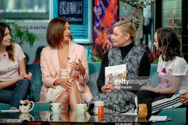 Jacqueline King and Abbie Cornish visit Build Brunch at Build Studio on April 03 2019 in New York City