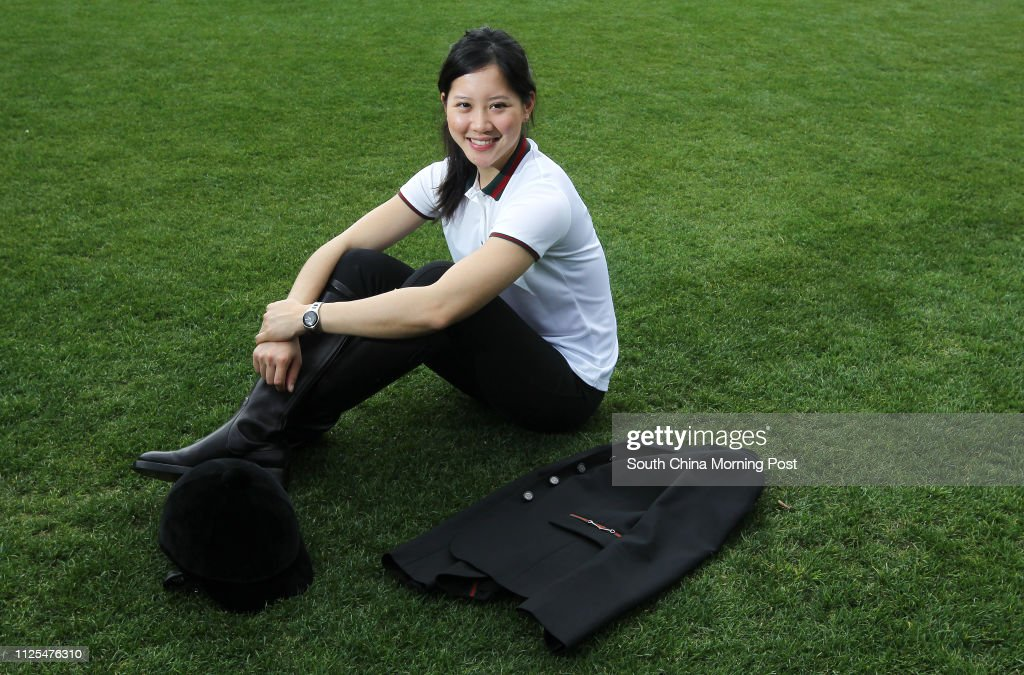 Jacqueline Lai Jing-man, a member of Hong Kong International Equestrian team who is raising funds to support her trip to compete in the China National Games and Asian Games, poses for picture at Hong Kong Cricket Club in Wan Chai. 02FEB13 : ニュース写真