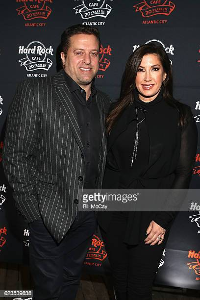 Jacqueline Laurita and her husband Chris Laurita walk the red carpet during Hard Rock Cafe's 20th Anniversary bash on Tuesday November 15 in Atlantic...