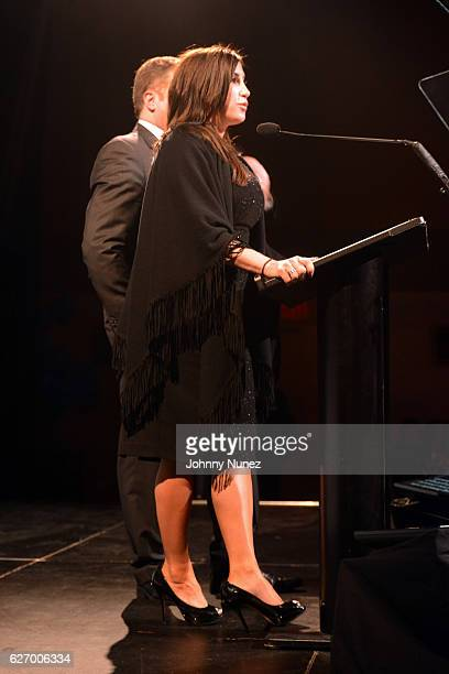 Jacqueline Laurita appears onstage at the 8th Annual Christian Rivera Foundation Celebrity Fundraiser at Broad Street Ballroom on November 30 2016 in...