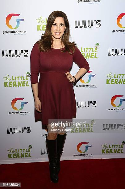 Jacqueline Laurita attends the launch of 'The Little Kernel' Mini Popcorn and their collaboration with Generation Rescue at the W Hotel on March 18...