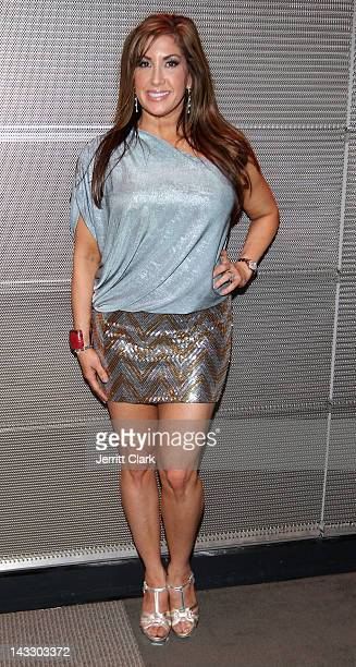 Jacqueline Laurita attends the Real Housewives of New Jersey Season 4 viewing party at The Chandelier Room on April 22 2012 in Hoboken New Jersey