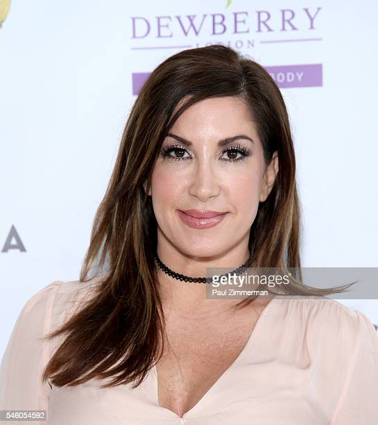 Jacqueline Laurita attends the 'Real Housewives Of New Jersey' Season 7 Premiere Party at Molos on July 10 2016 in Weehawken New Jersey