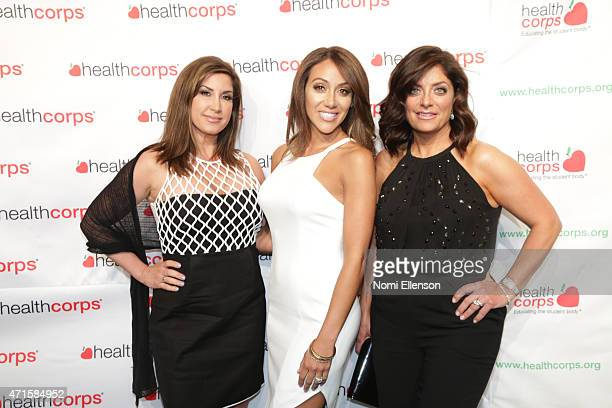 Jacqueline Laurita Melissa Gorga and Kathy Wakile attend the 9th Annual HealthCorps' Gala at Cipriani Wall Street on April 29 2015 in New York City