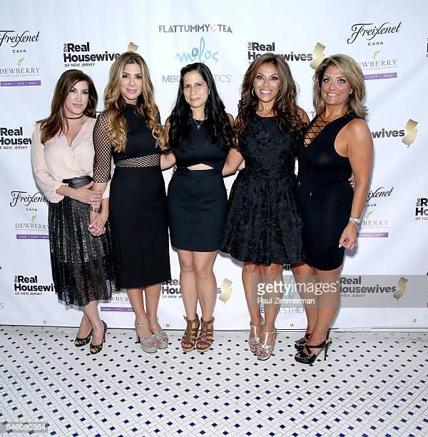 Jacqueline Laurita Siggy Flicker Eliana Stefanitsis Dolores Catania and Kathy Wakile attend the Real Housewives Of New Jersey Season 7 Premiere Party...