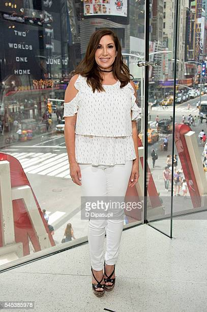 Jacqueline Laurita visits Extra at their New York studios at HM in Times Square on July 7 2016 in New York City