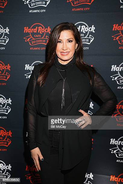 Jacqueline Laurita walks the red carpet during Hard Rock Cafe's 20th Anniversary bash on Tuesday November 15 in Atlantic City NJ The event celebrates...