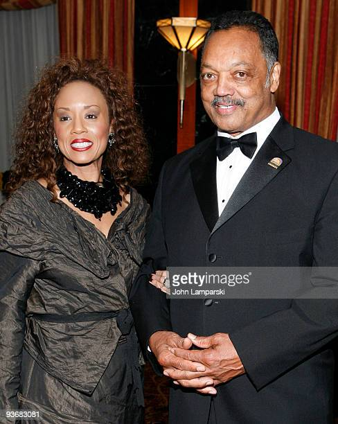 Jacqueline Lavinia Brown and Jessie Jackson attend the Alvin Ailey Opening Night Gala Party at the Hilton Hotel on December 2 2009 in New York City